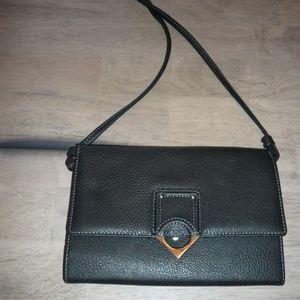 Black Liz Claiborne Clutch Wallet with Strap
